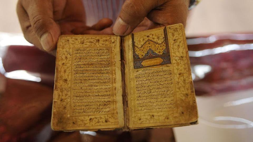 An exhibition of rare Islamic art and Quranic manuscripts at display in Srinagar.