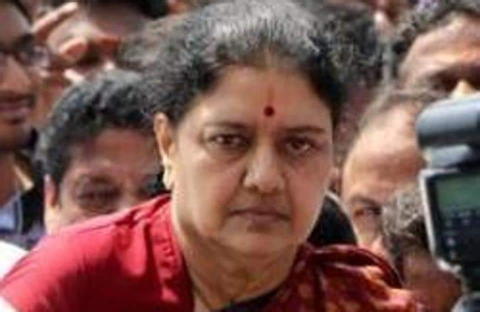 File photo of deposed AIADMK leader VK Sasikala.