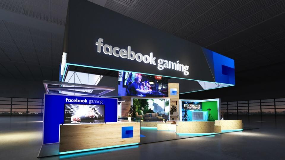 Facebook's gaming booth at E3 2018.