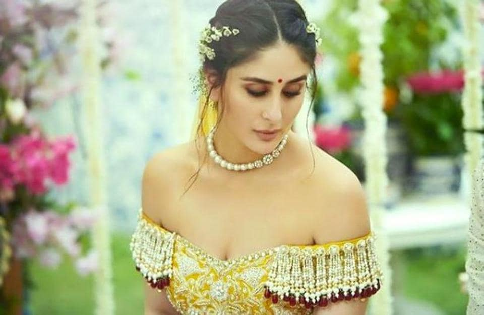 Kareena Kapoor Khan set some pretty aspirational wedding fashion goals with her sexy and exotic bridal lehenga. (Instagram)