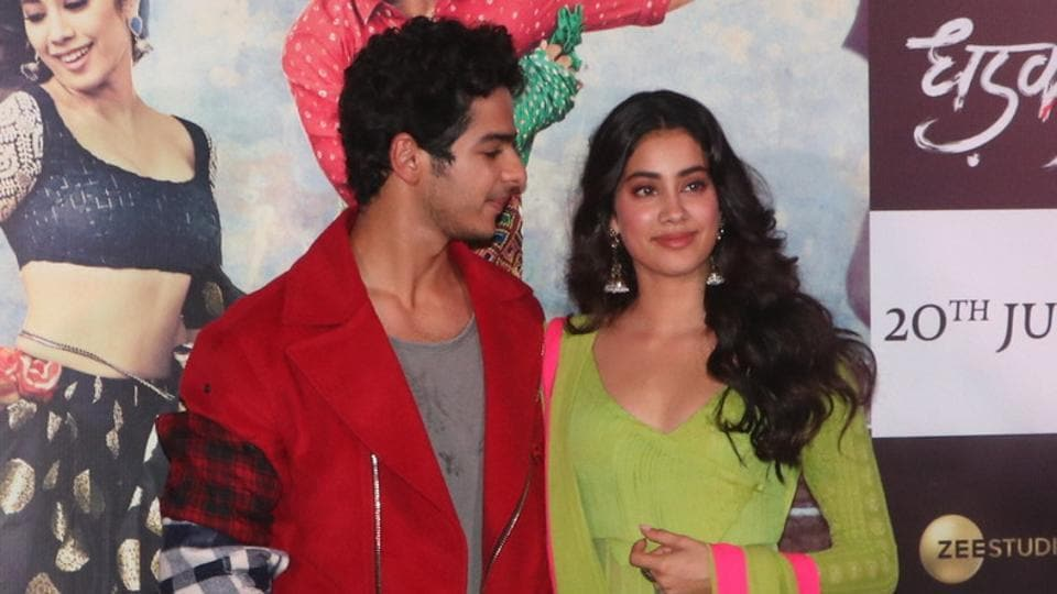 Ishaan Khatter is Shahid Kapoor's half-brother and Janhvi Kapoor is the daughter of the late screen icon, Sridevi. Both will make their Bollywood debut with Dhadak. (Viral Bhayani)