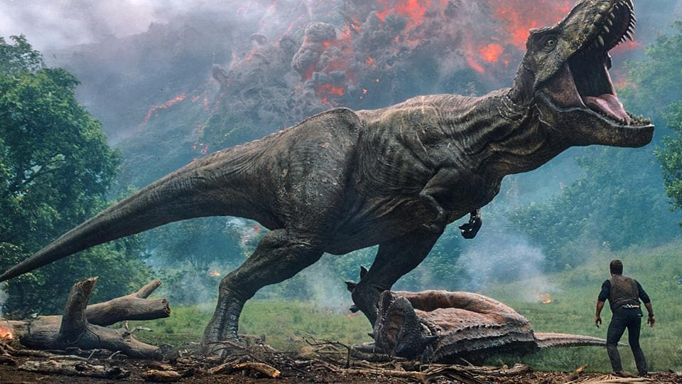 This image released by Universal Pictures shows a scene from the upcoming Jurassic World: Fallen Kingdom.