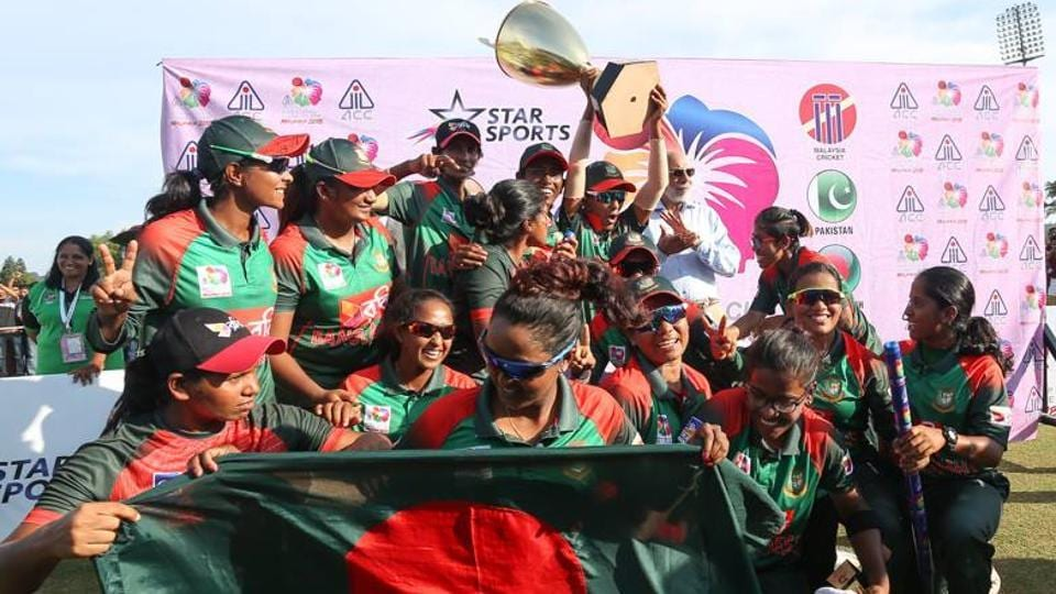 The Bangladesh women's cricket team defeated six-times champions India by three wickets in Sunday's final in Kuala Lumpur to claim their maiden title.