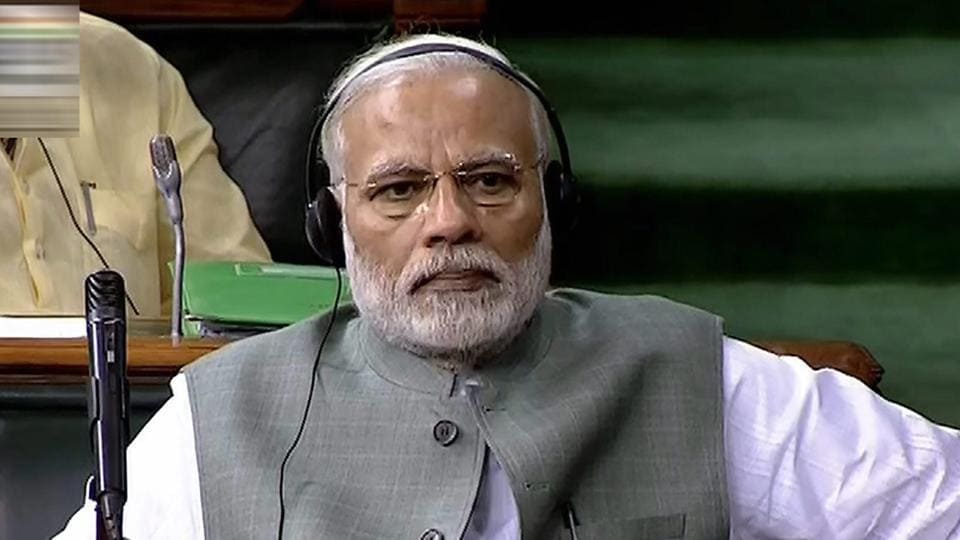 Prime Minister Narendra Modi attends the last day of the budget session of Lok Sabha at Parliament, in New Delhi.