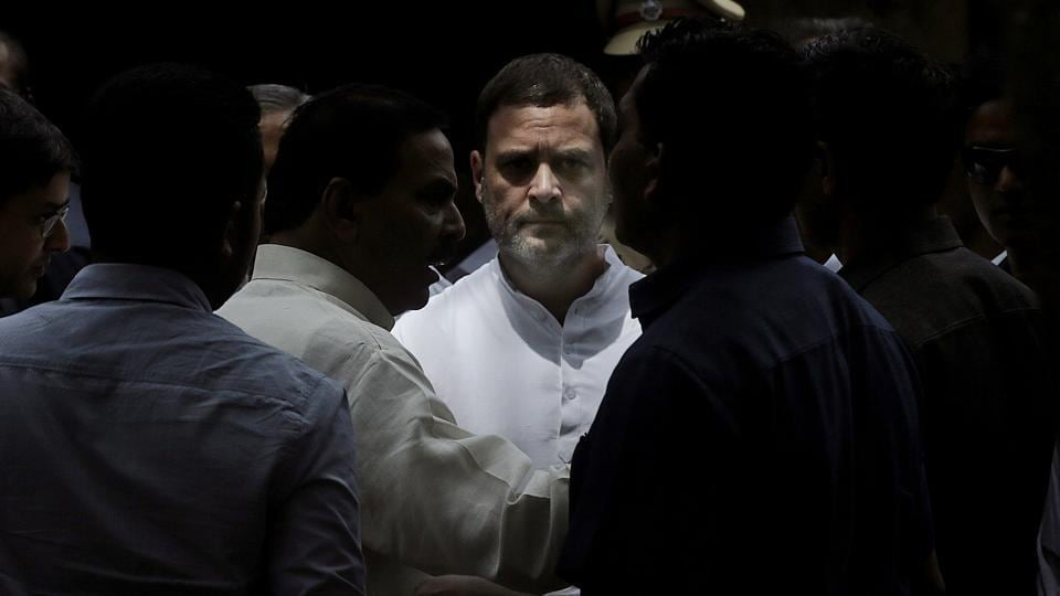 "A magistrate court in Bhiwandi, Maharashtra, framed charges against Congress president Rahul Gandhi on Tuesday in a criminal defamation case filed by an RSS worker. Speaking to the media outside court premises, Gandhi said, ""Let them (the BJP and the RSS) slap as many cases as they want against me. Ours is a fight of ideology. We will fight them and win."" (Rafiq Maqbool / AP)"