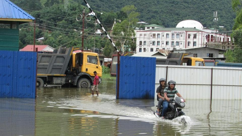 Manipur has been suffering from flash floods and landslides due to intense rainfall in the north eastern state.