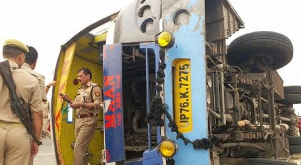 Image result for mainpuri bus accident