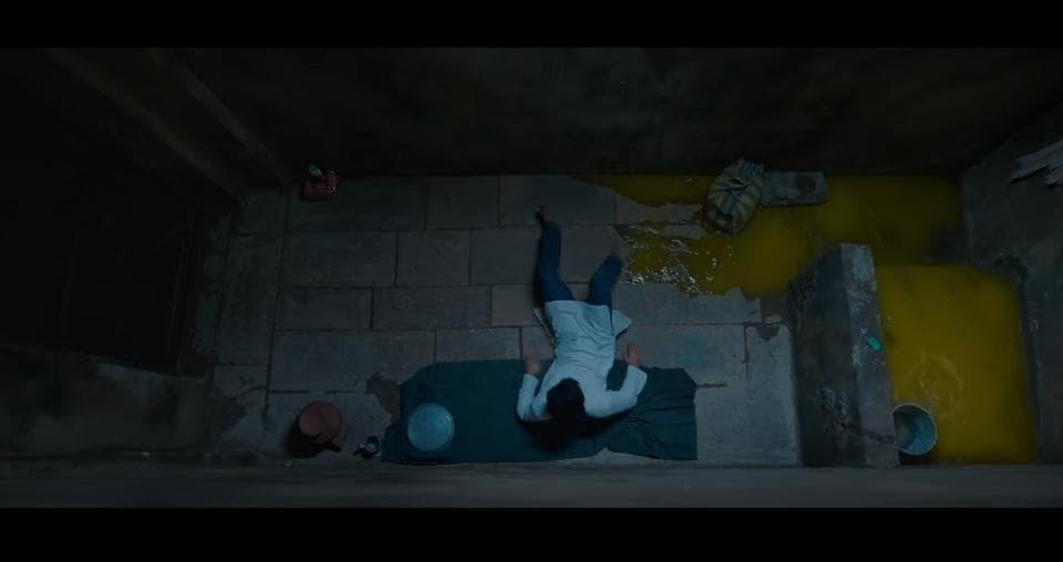 The scene from the trailer of the film Sanju.