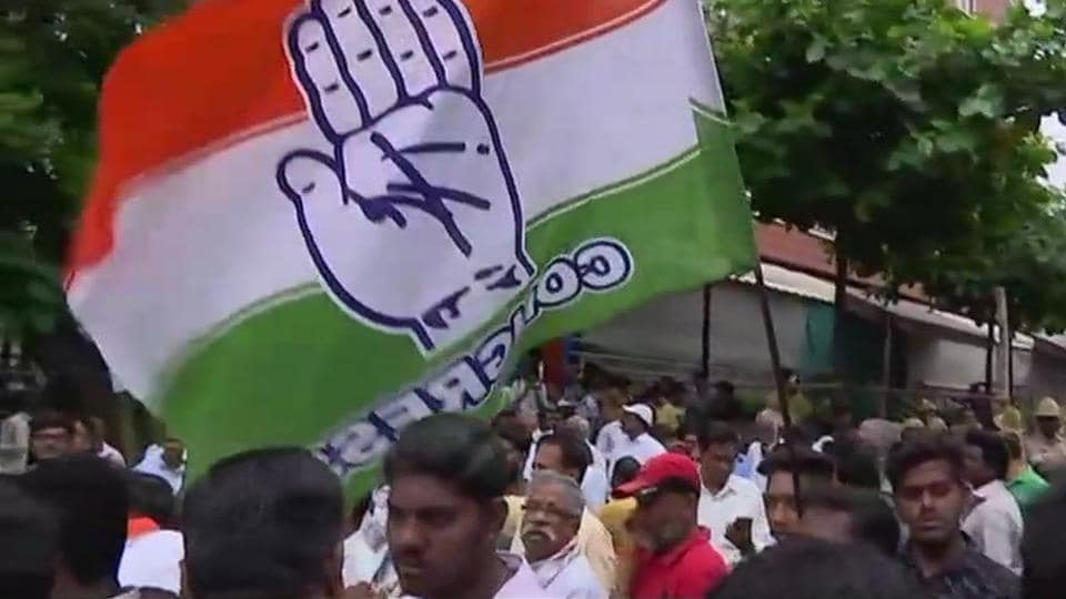 The Congress on Wednesday won the Jayanagar assembly seat in the city by a margin of more than 2,800 votes, wresting it from the BJP. According to election officials, Congress' Sowmya Reddy secured 54,457 votes against her nearest rival from the BJP, B N Prahlad, who managed 51,568 votes. (ANI)
