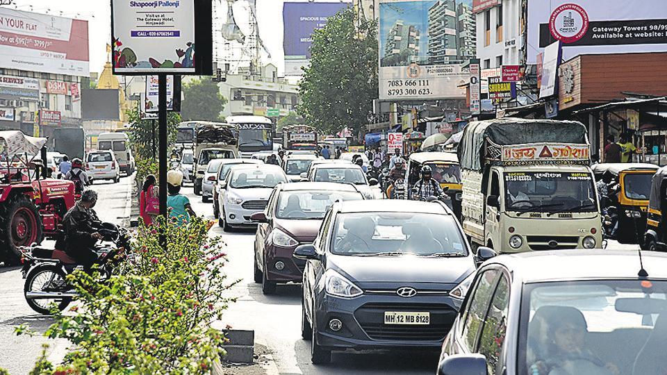 Pune,traffic jam,hinjewadi