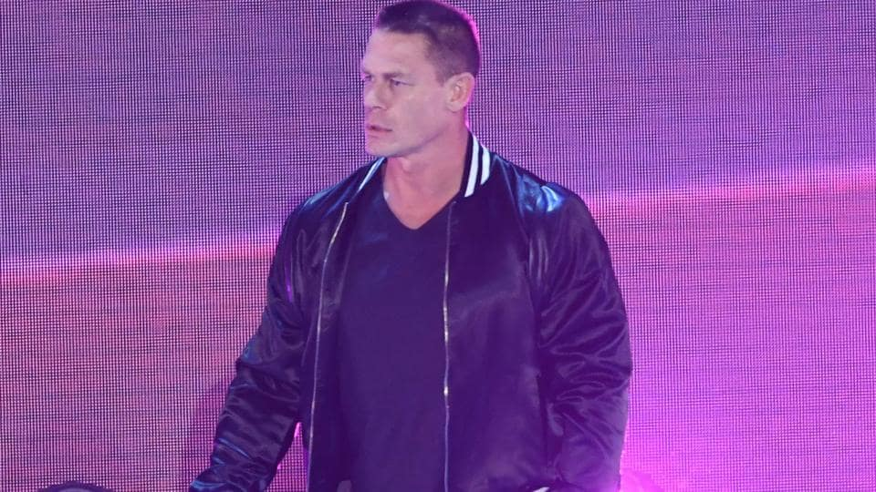 Host John Cena walks on stage at the 31st Annual Nickelodeon Kids' Choice Awards.