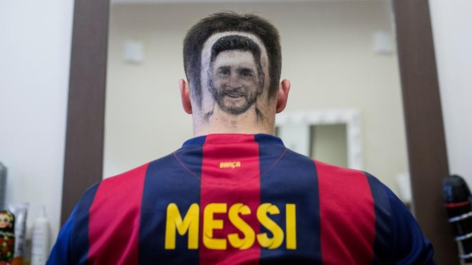 Barber Snips Lionel Messi Headshot For Fans Ahead Of Fifa World