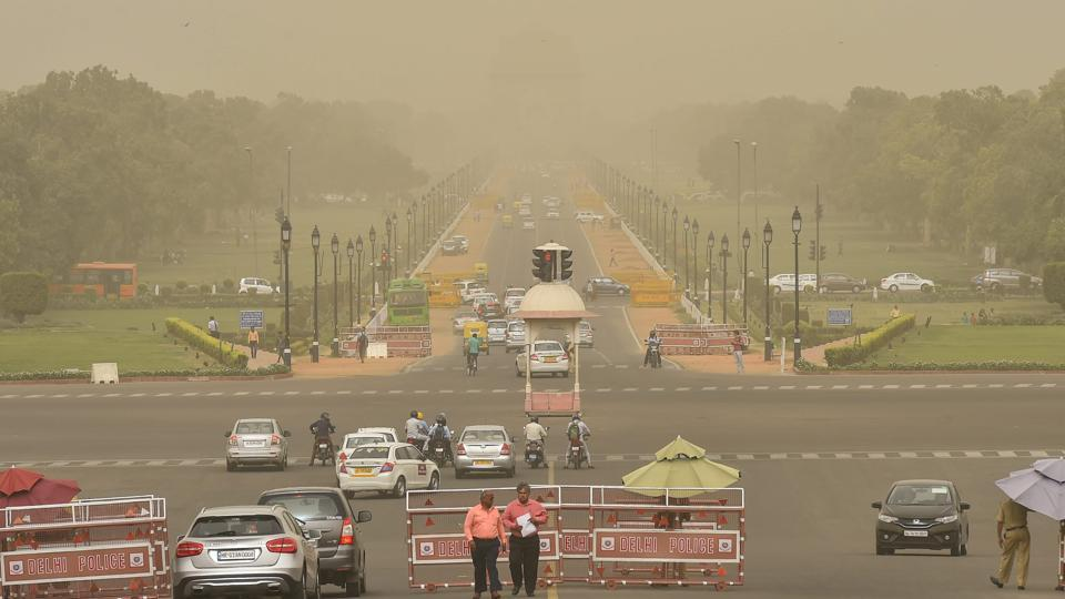 delhi air quality beyond severe due to dust storm in
