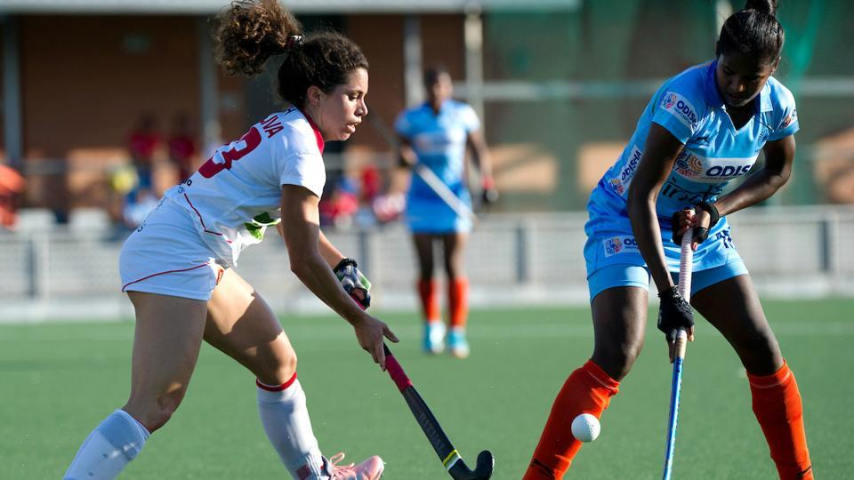 The second of the five-match series between the Indian women's hockey team and Spain ended in a 1-1 draw.