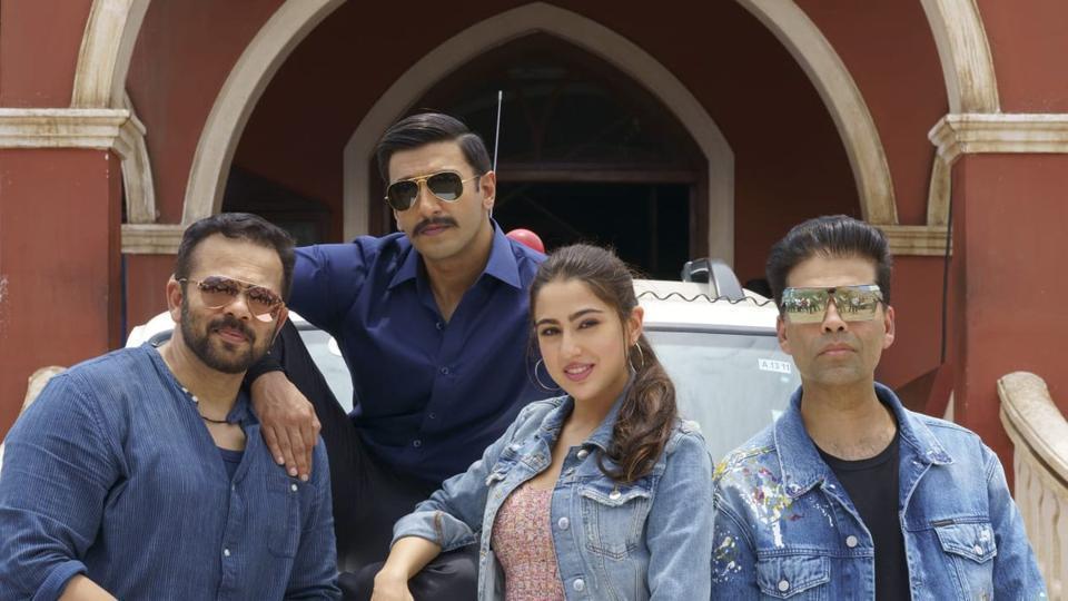 Ranveer Singh and Sara Ali Khan play lead roles in Simbaa.
