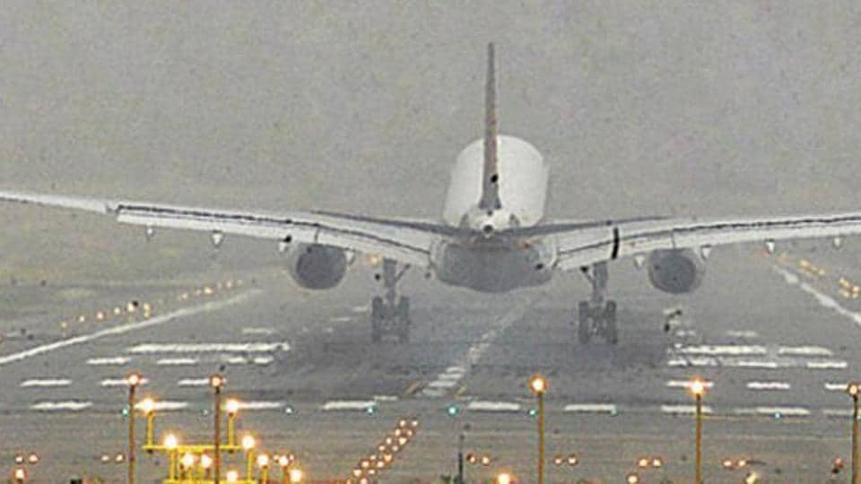 Dusty weather,Chandigarh airport,Low visibility