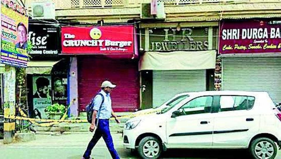 Four men walked into a jewellery store in Adarsh Nagar while the owner was present. They pulled out pistols and threatened the life of the owner's son, police said.