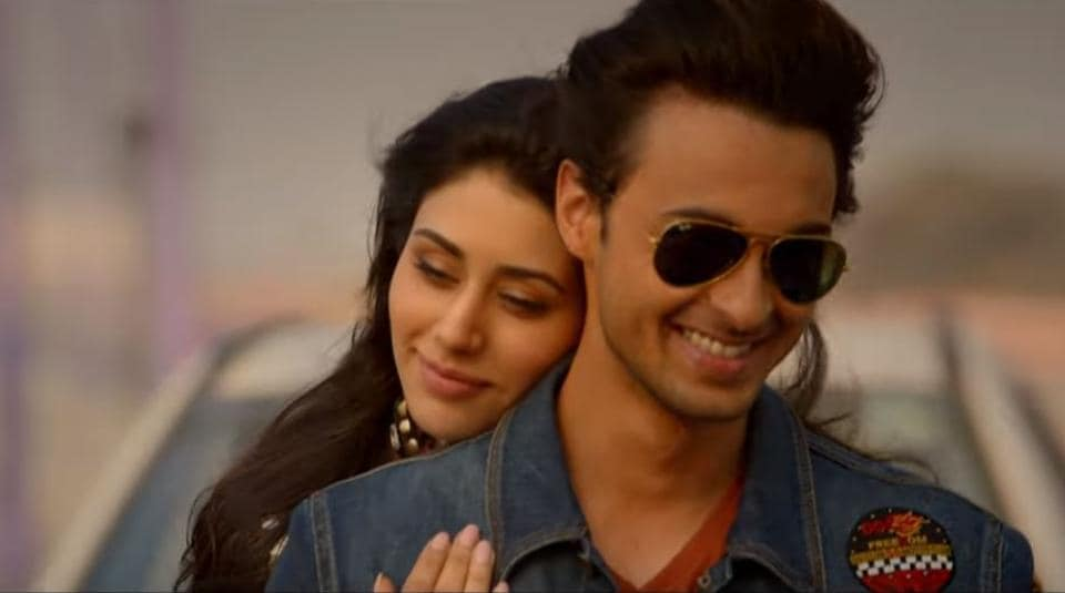Aayush Sharma and Warina Hussain in the first teaser of Loveratri.