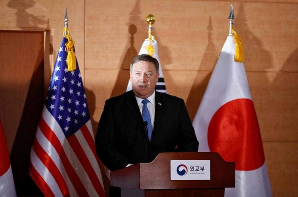 Mike Pompeo,India-US 2+2 dialogue,Donald Trump