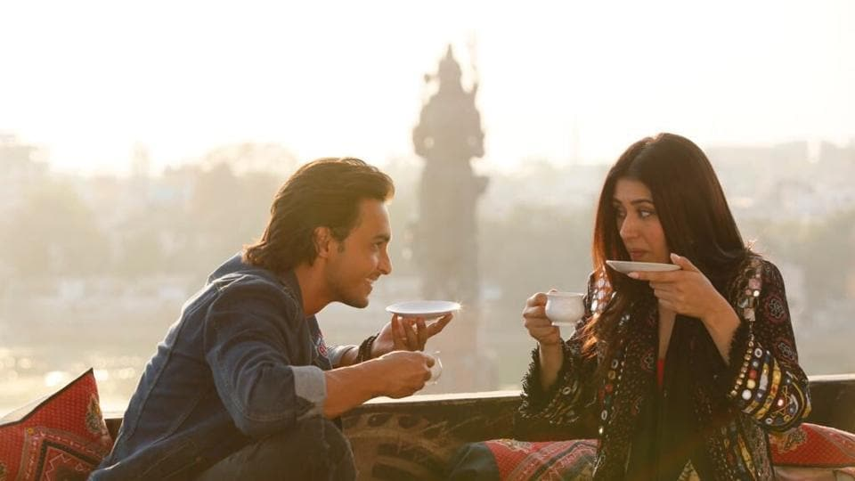 Ayush Sharma and Warina Hussain in a new still from Loveratri