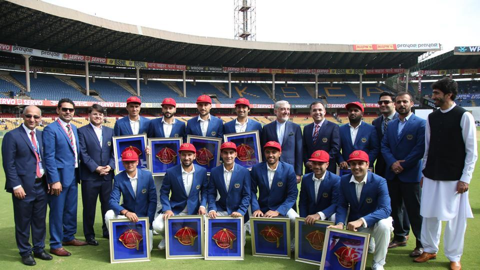 Afghanistan players enjoyed in the festive atmosphere as the spotlight was firmly on them. (BCCI)