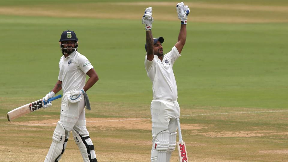 Shikhar Dhawan became the first Indian to score a century before lunch on day 1 of the Test as India eyed a big total. (BCCI)