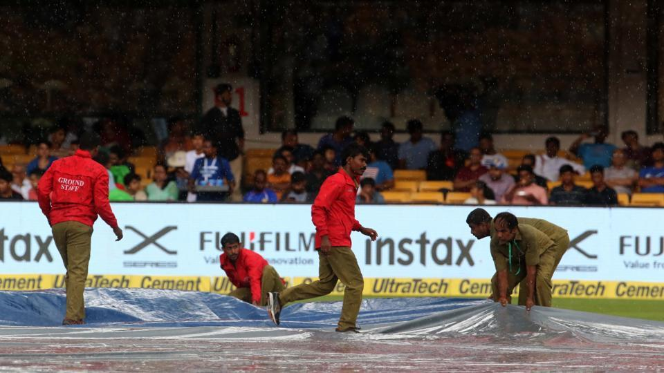 The second session was interrupted by rain briefly to halt Vijay's charge towards a hundred.  (BCCI)