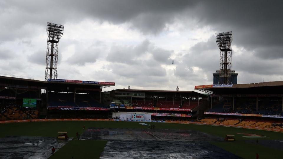A second and lengtheir rain delay forced the final session to be extended. (BCCI)