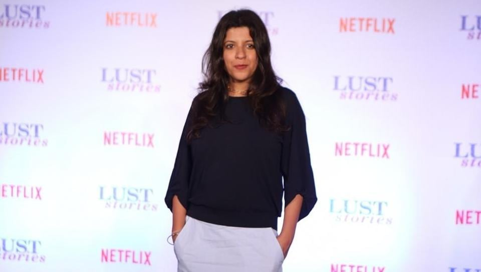 Zoya Akhtar at the trailer launch of Lust Stories in Mumbai.