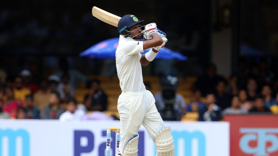 Resuming the second day at 347/6, India rode on Hardik Pandya's 71 to post 474.  (BCCI )