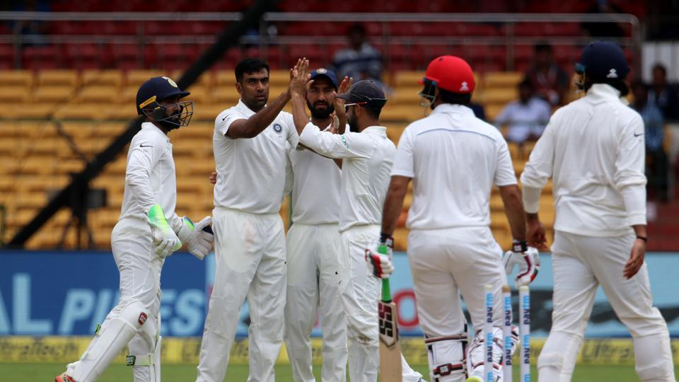 Once the top-order was blown away by Umesh and Ishant, Ashwin and Ravindra Jadeja made short work of the middle and lower-order.  (BCCI )