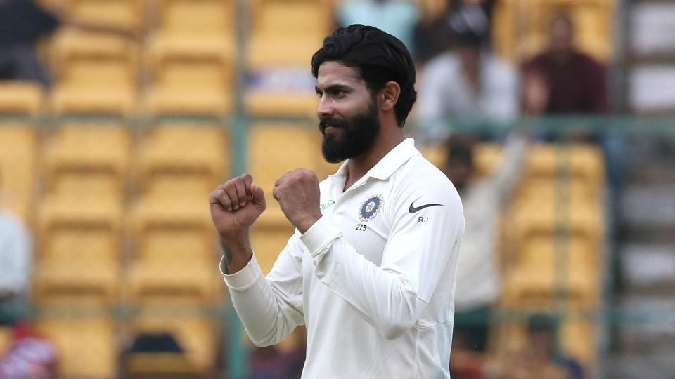 Jadeja finished with 4/17 as India won the game in two days.  (BCCI )