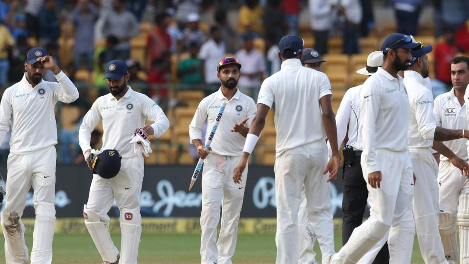 India thrashed Afghanistan by an innings and 262 runs on the second day of the one-off Test at the M Chinnaswamy Stadium, Bangalore. (BCCI )