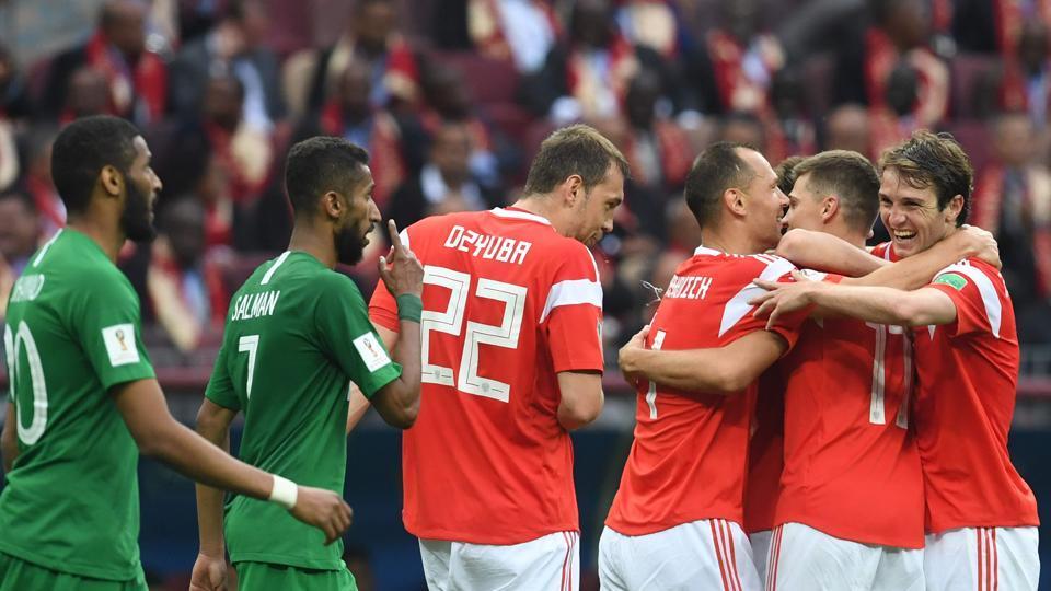Saudi Arabia football team,Russia Football team,FIFA World CUP 2018