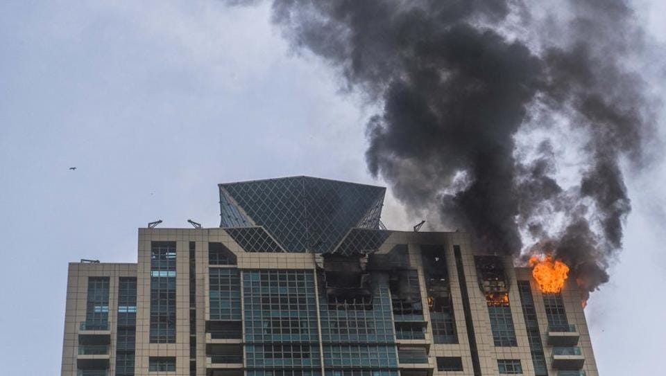The fire broke out at the Prabhadevi high-rise's 32nd floor on Wednesday.