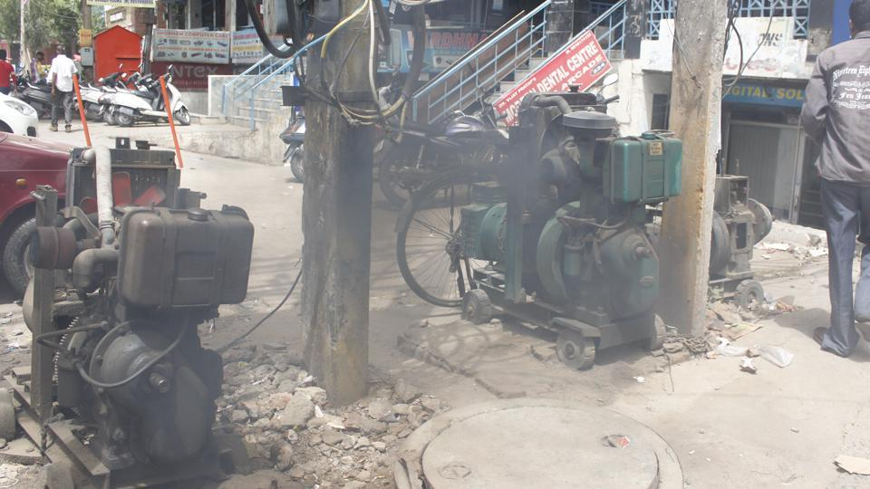 50,000 litres of diesel is burnt every hour for power backup