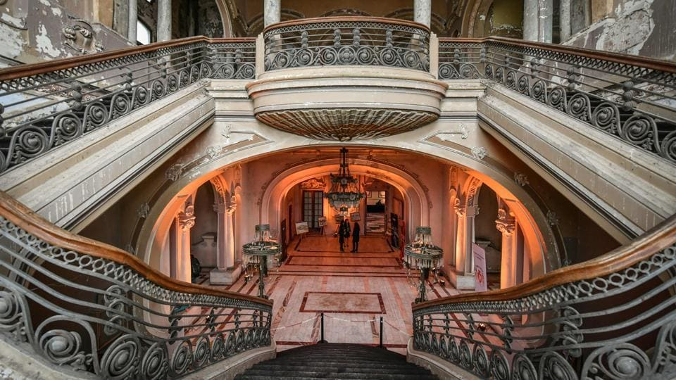 A hall inside the Constanta Casino on the Black Sea, eastern Romania. The Constanta Casino, an emblematic Art Nouveau monument from the early 20th Century, is crumbling away.