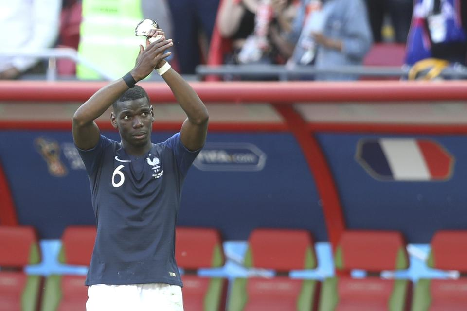 France's Paul Pogbascored the winning goal in their Group C match against Australia. (AP)