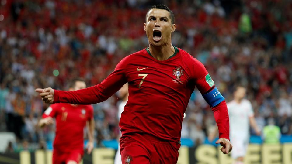 Cristiano Ronaldo scored a hat-trick as Spain were held by Portugal to a 3-3 draw at Sochi on Friday in a Group B FIFA World Cup 2018 match.