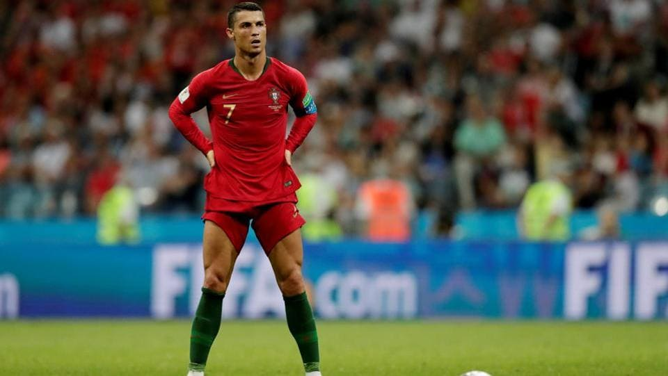 However, when Portugal won a free-kick and Ronaldo lined up to take it, it seemed as if everyone held their breath.  (REUTERS)