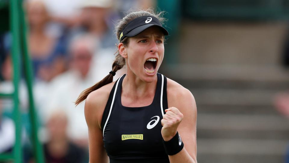 Johanna Konta sets up semi-final clash with Donna Vekic in Nottingham