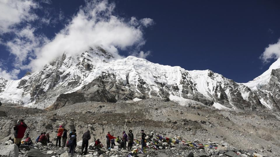 Mount Everest,Discarded tents,Waste on mount everest