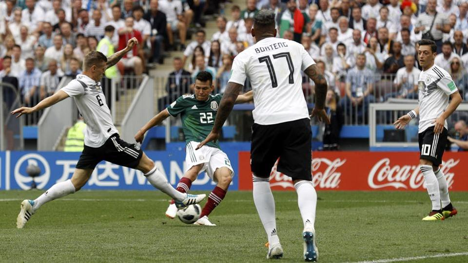 Hirving Lozano's first-half goal and sturdy second-half defense gave Mexico a 1-0 victory over Germany  (AP)