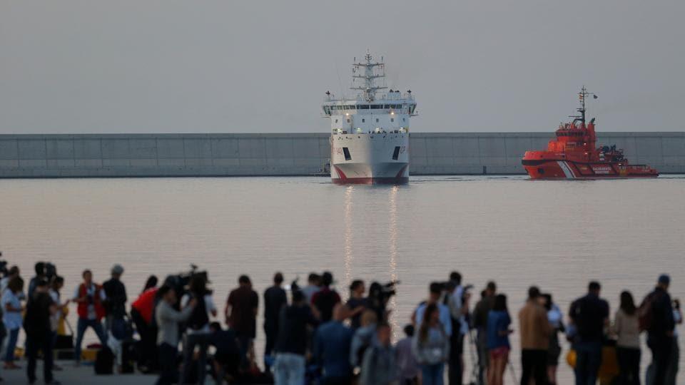 Europe migrant crisis,Valencia,Aquarious boat