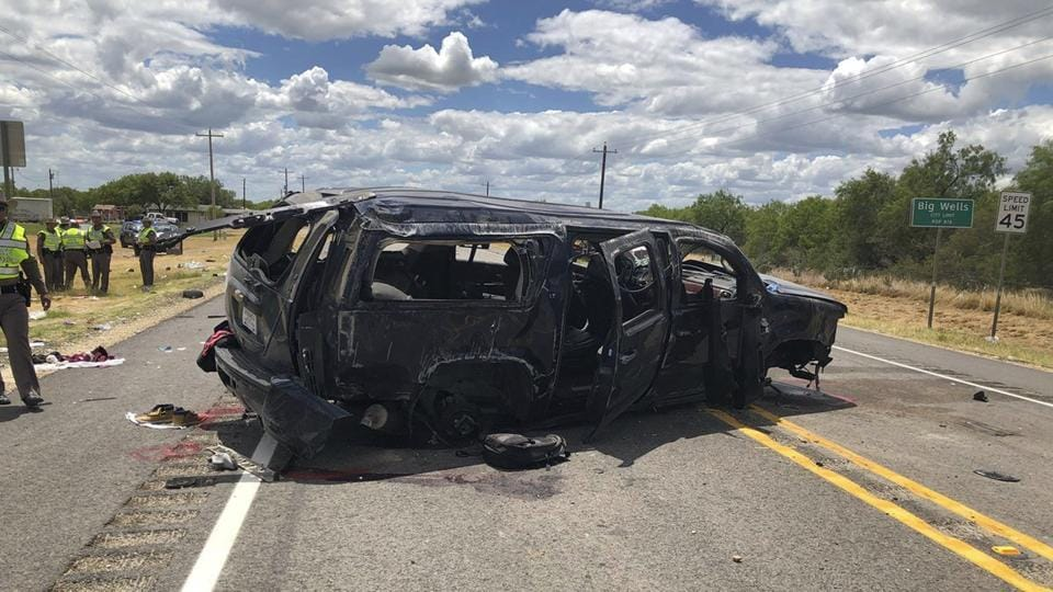Texas,US illegal immigrants,SUV crash US