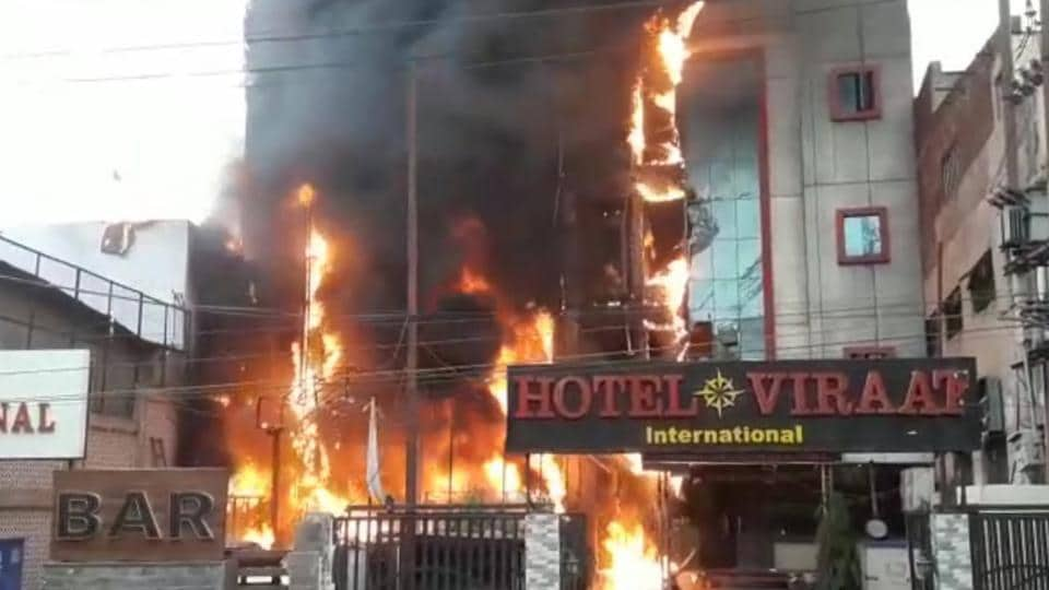 Lucknow,Lucknow Hotel Fire,Hotel Fire