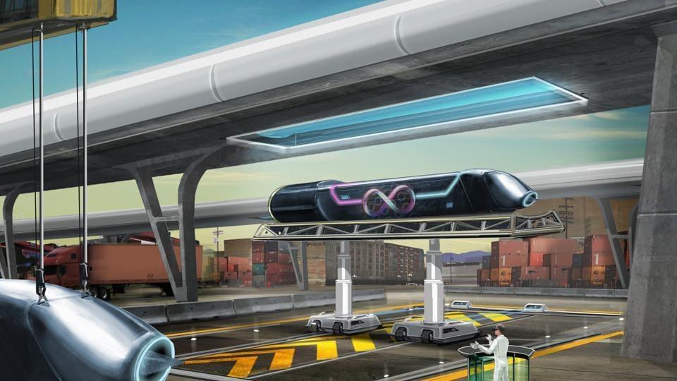 Hyperloop track,Virgin Hyperloop One,PMRDA