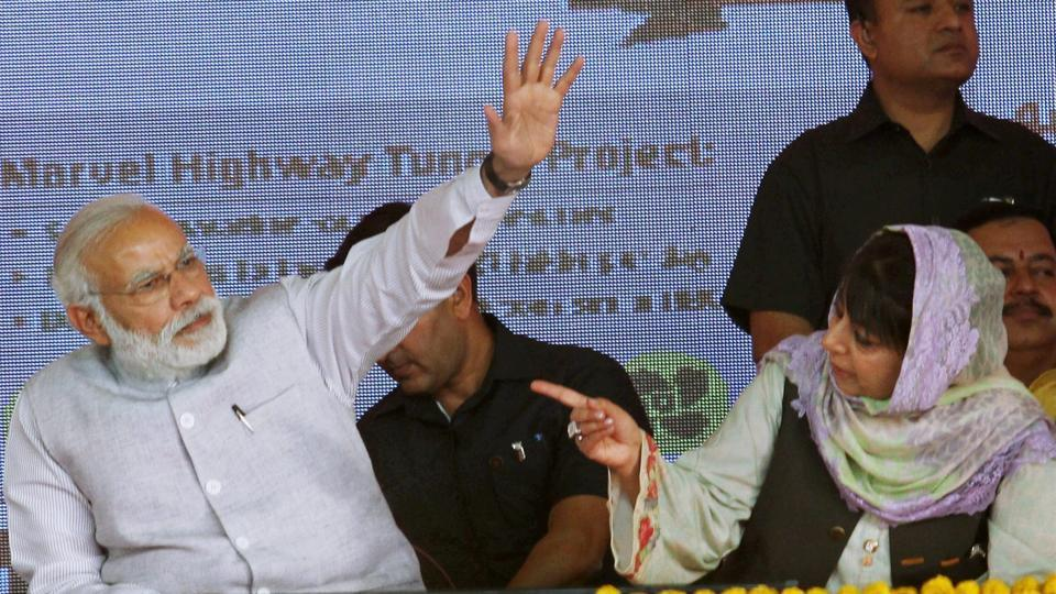 Mehbooba Mufti resigned as Jammu and Kashmir's chief minister on Tuesday after the Bharatiya Janata Party (BJP) ended its alliance with her People's Democratic Party (PDP), potentially pushing the state towards Governor's rule. The BJP's decision came after the central government announced on Sunday it was discontinuing the suspension of military operations in Jammu and Kashmir as the month of Ramzan was over.  (PTI File)