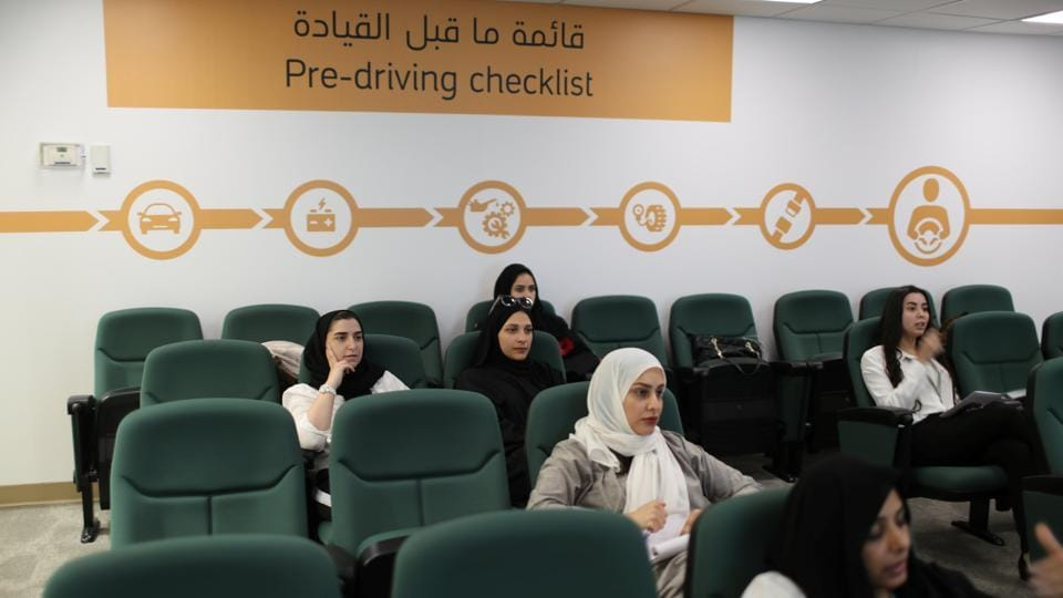 Trainees attend a lesson at Saudi Aramco's Driving Center. Women make up about 5% of the state oil firm Aramco's 66,000 staff, meaning that 3,000 more could eventually enrol in the driving school. (Ahmed Jadallah / REUTERS)