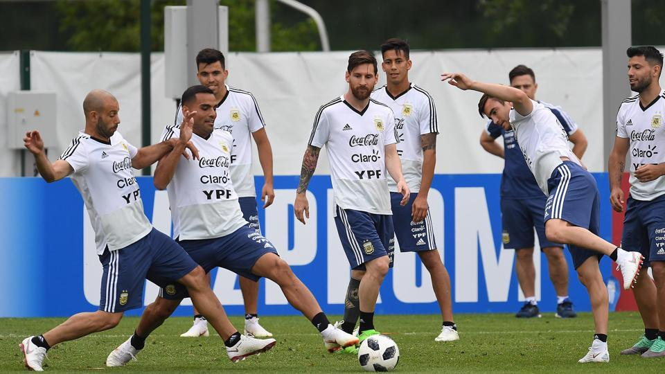 Argentina will hope Lionel Messi fires when they face Croatia in their second game of the FIFA World Cup 2018 on Thursday.  (Utpaal Sorkkar/HT photo )